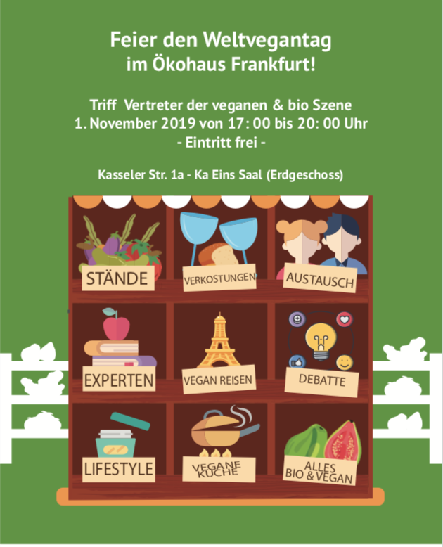 November 1st 2019 – World Vegan Day – Frankfurt – Germany