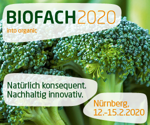 February 12 -15, 2020 – Biofach – Nuremberg – Germany