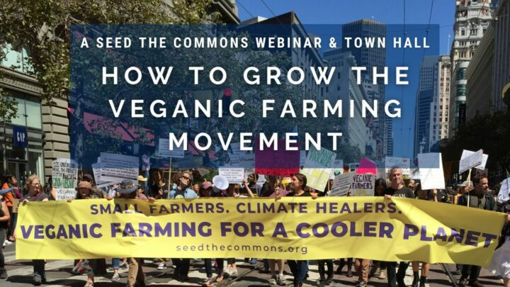 March 12, 6.30 to 9.30pm, webinar: How to Grow the Veganic Farming Movement (Seed the Commons)